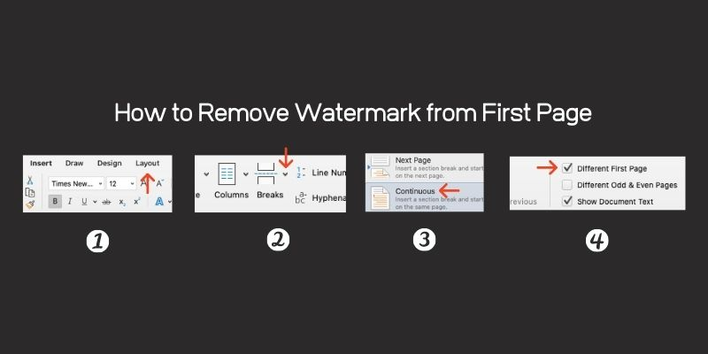 Simple 3 steps to Remove Watermark from document first page