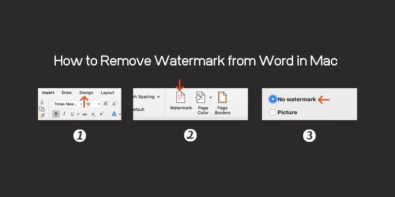 Followed these 3 steps to  Remove Watermark from Word documentin Mac