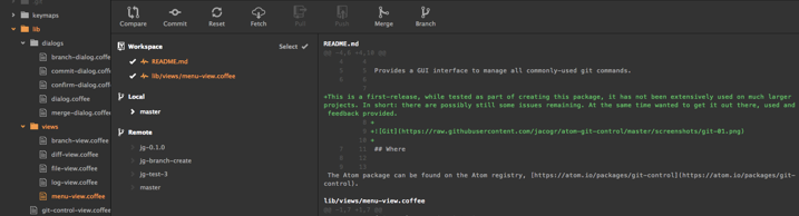Setup Version control support in Atom