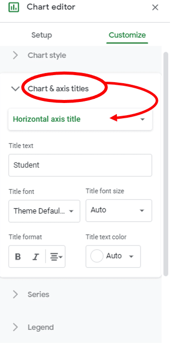 change chart x y axis in google sheet