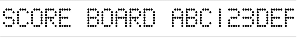 core board dotted gimp font