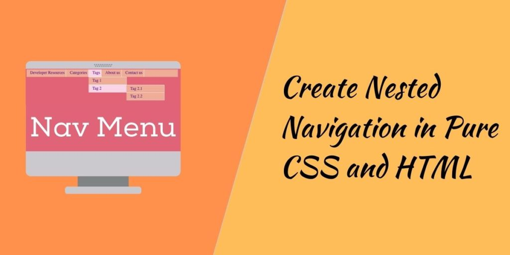 Dropdown menu in HTML and CSS