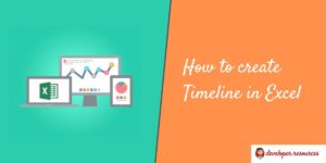 How to create Timeline in Excel(1)