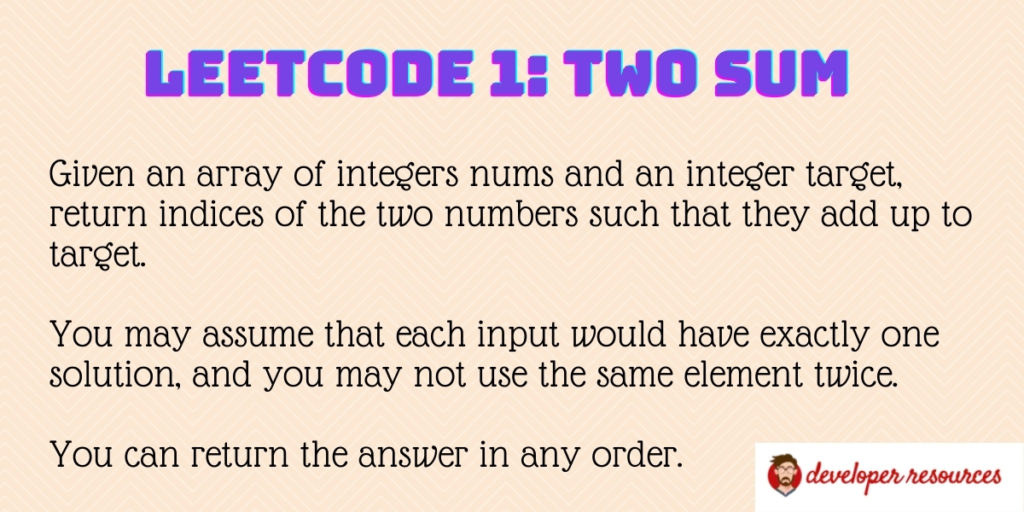 Leetcode 1 The sum - Leetcode 1: Two Sum problem - Multiple Solutions
