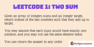 Leetcode 1 The sum - Home page