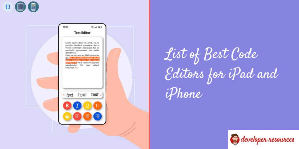 List of Best Code Editors for iPad and iPhone