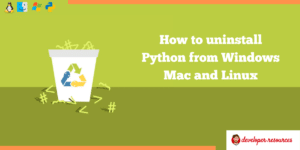 How to uninstall Python compiler