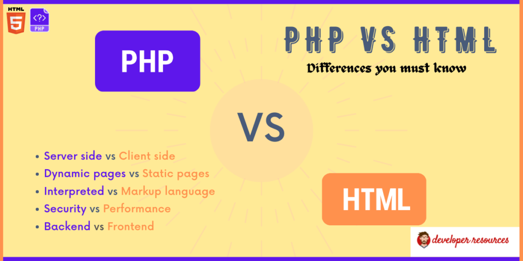 PHP Vs HTML: difference you must know