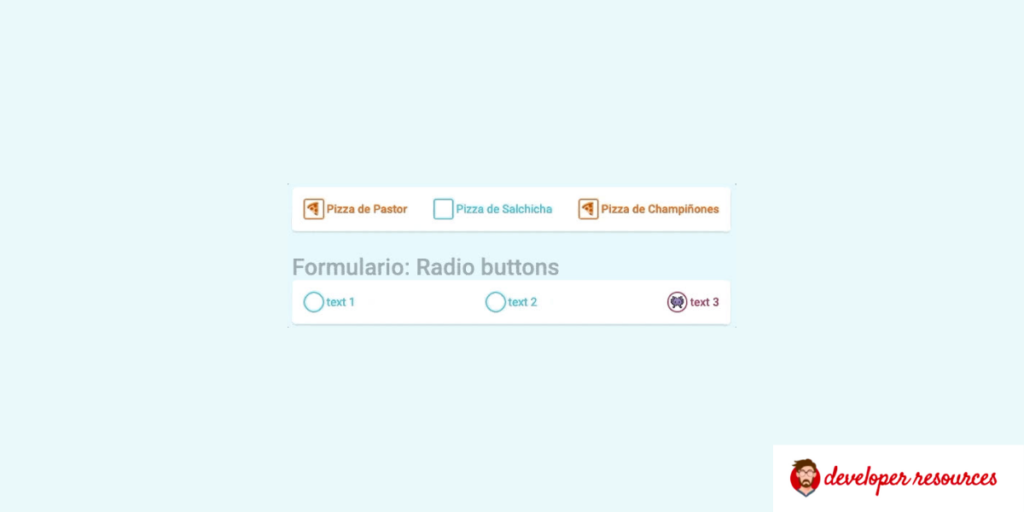 bootstrap radio button with icons