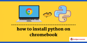 how to install python on chromebook