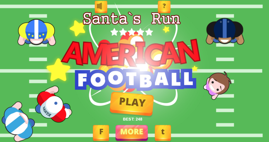 HTML5 template for American football