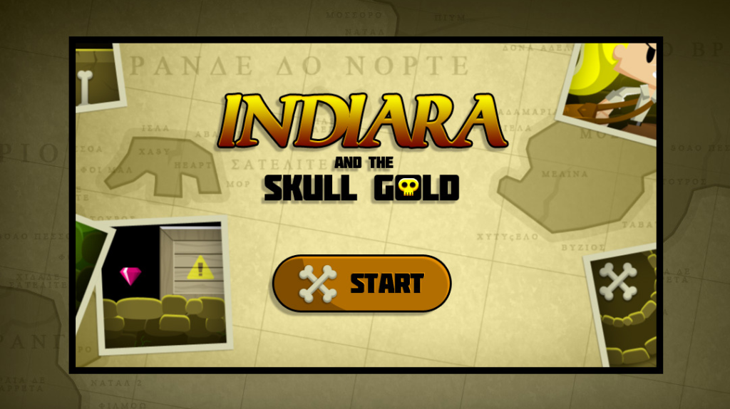 Indiara and the Skull Gold game template