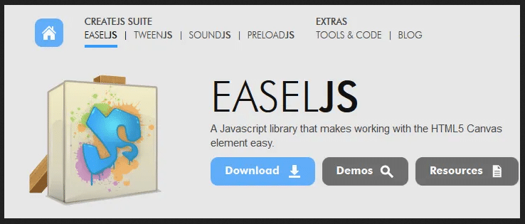 Easeljs javascript library for html5 canval