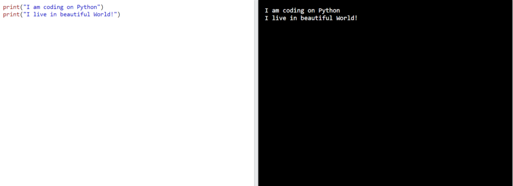 Python code example for beginners