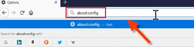 adjust config setting in firefox