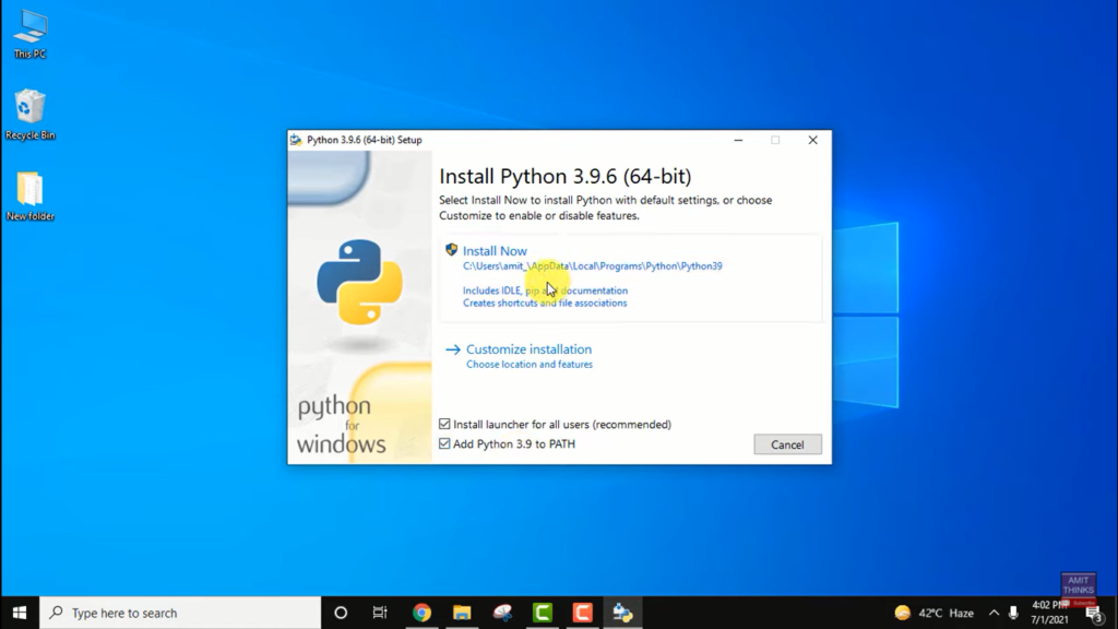 image 5 - How to update Python in Windows, Mac, and Linux