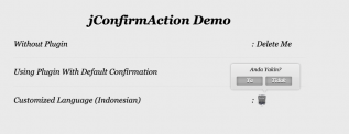 jQuery User Confirmation Action
