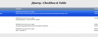 jQuery Checkbox table