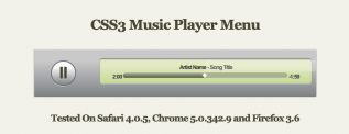 jQuery CSS3 Media Player